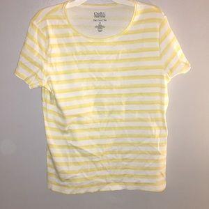 Yellow & White Striped Tee